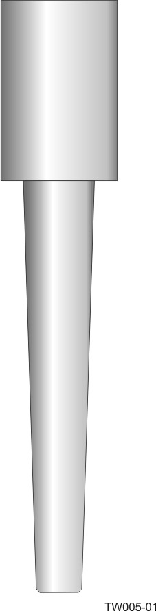 Weld-in barstock thermowell - tapered