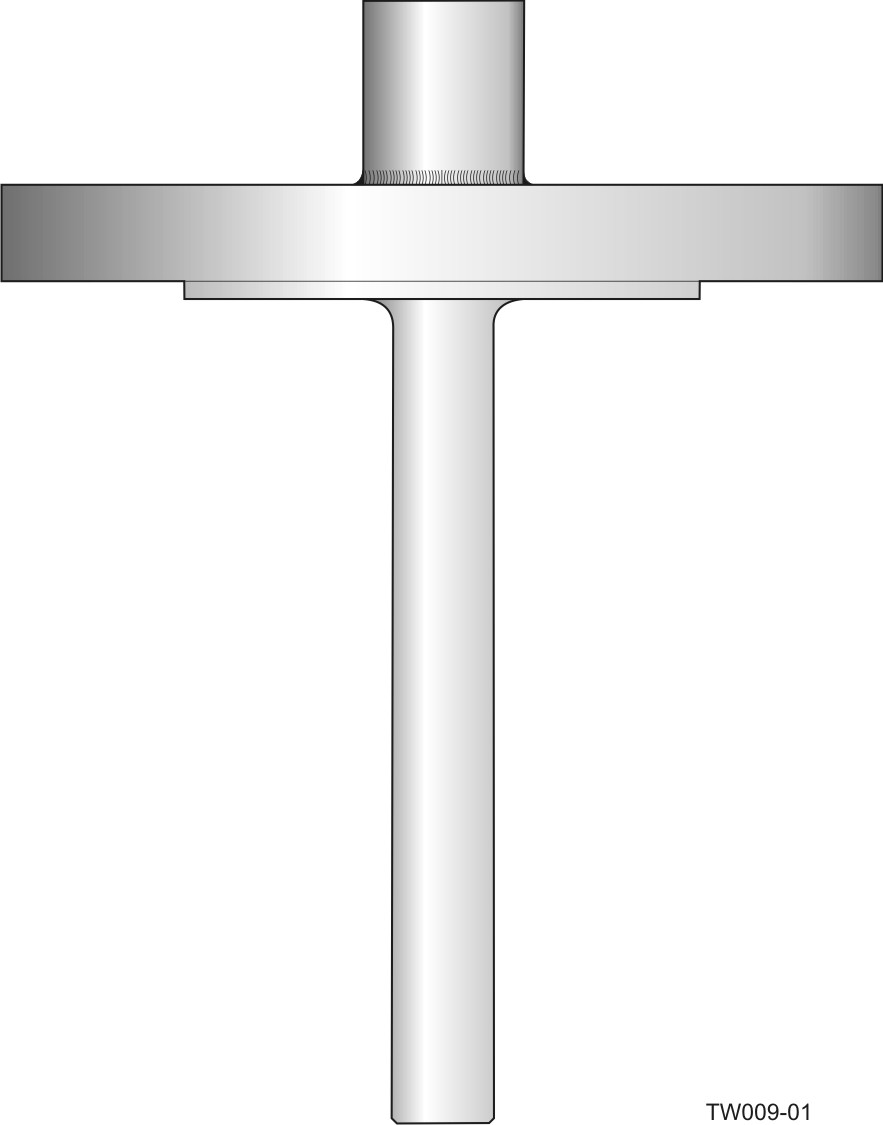Flanged barstock thermowell - straight form