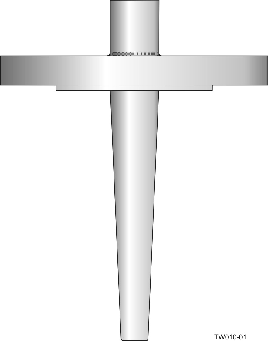 Flanged barstock thermowell - tapered