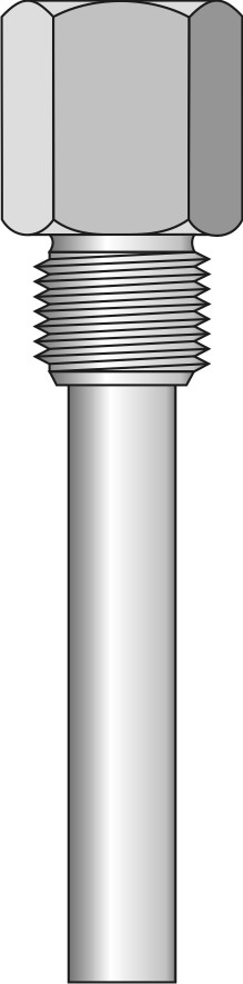 Screw-in barstock thermowell - straight form