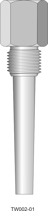 Screw-in barstock thermowell - tapered